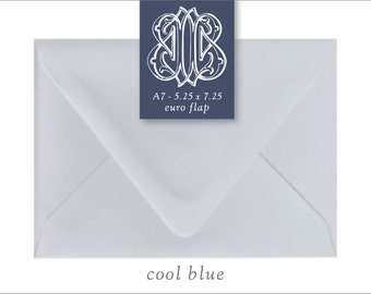 Cool Blue | 10 Blank A7 Euro Envelopes