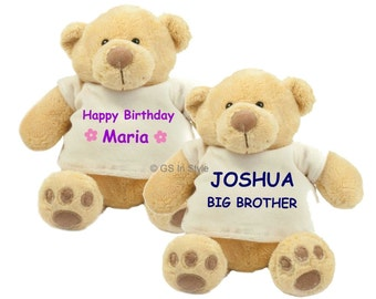 Personalised honey bear with T-Shirt