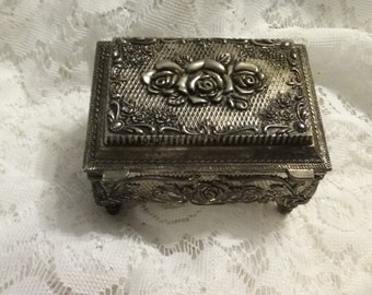 Heavy Silver Plated Trinket Box