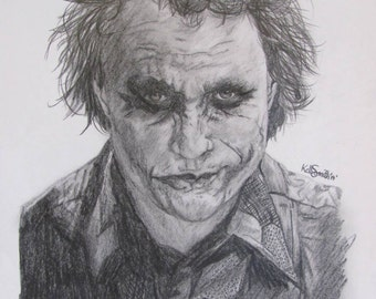 Heath ledger as The Joker Graphite Portrait