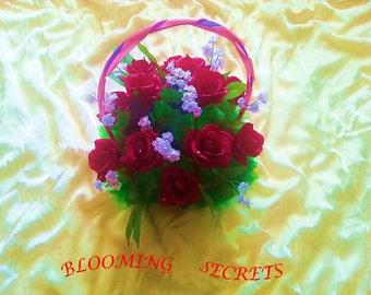 Sweet Red Rrose basket
