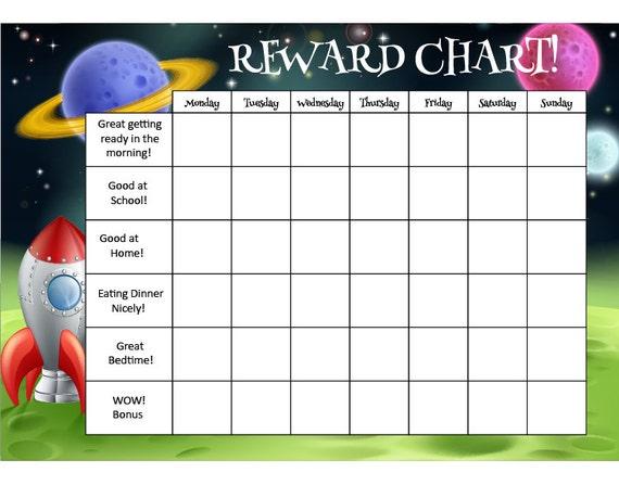 Magnetic Receptive - Reward Chart 40cm x 30cm