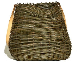 Bag shoulder wicker basket