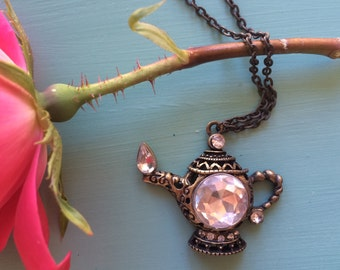 Crystal Teapot Necklace