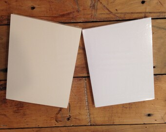 Cardstock Paper 3.75 x 5 50 sheets WHITE or CREAM choose your color
