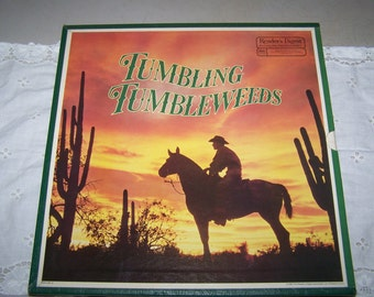 "Vintage Reader's Digest ""Tumbling Tumbleweeds"" Cowboy Songs Boxed Record Set"