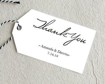 Thank You Tag, Wedding Favor Tag, Printable Wedding Favor, Printable Thank You Tag, Wedding Thank You, Gift Tag