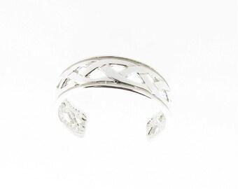 Sterling Silver Celtic Design Toe Ring