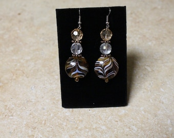 chocolate swirl earrings