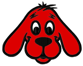 CliffOrd Big Red Dog Applique Embroidery Design 4x4 5x7 INSTANT DOWNLOAD