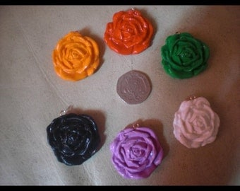 Large rose charms
