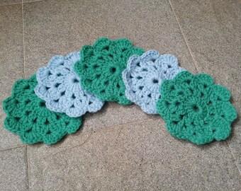 Flower Crochet Coasters