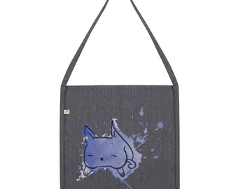 Ink Splat Cat Tote Bag