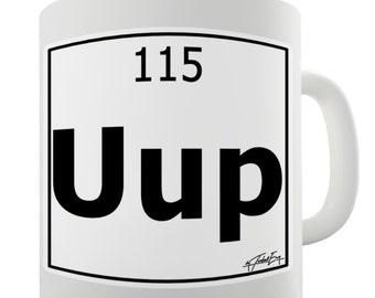 Periodic Table Of Elements Uup Ununquadium Ceramic Tea Mug