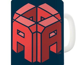 Letter A Alphabet Ceramic Novelty Mug