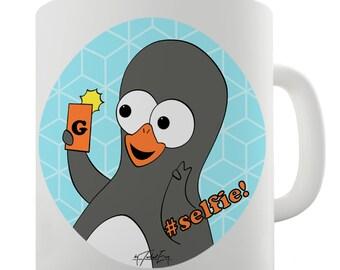 Guin Penguin #Selfie! Emoticon Ceramic Tea Mug