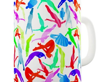 Diving Rainbow Collage Ceramic Mug