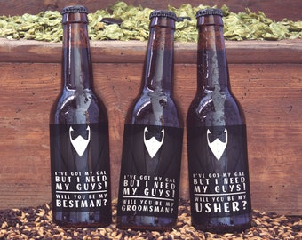groomsman gift idea, best man gift, usher gifts, printable beer bottle label, wedding party gifts, best man beer label, groomsmen beer label