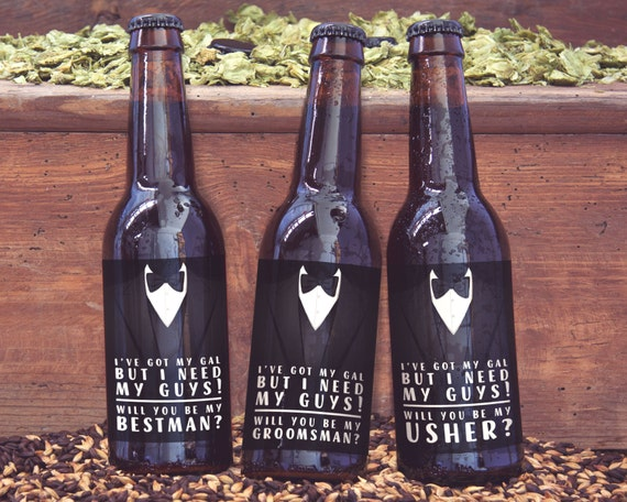 Groomsman Gift Idea Best Man Usher Gifts Printable Beer