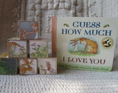 Gift Set! Picture Book Blocks & Story Book- Guess How Much I Love You