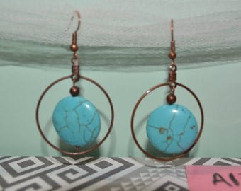 Rustic Turquoise Earrings