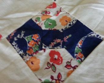 Vintage Bow tie Quilt Top