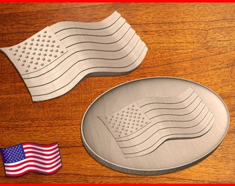 Two Stars and Stripes Design patterns for your CNC Router in STL format