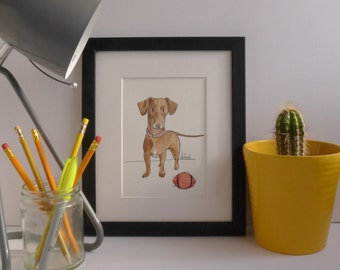 "Custom Dog Portrait. Quirky Dog Illustration. Pet Portrait. Dog Portrait. Custom Dog Art. 10"" x 8"""