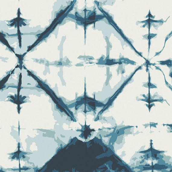 Indigo Window Crystal || Observer by April Rhodes for Art Gallery Fabrics || Half Yard || One Yard || Cotton Woven
