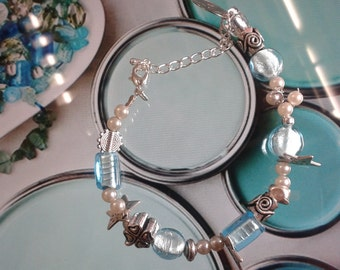 Collection blue beads dune
