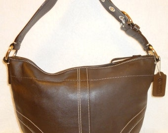 Coach Brown Leather Shoulder Handbag Professional Refurbish