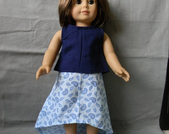 American Girl Doll Summer Hi-Lo Skirt and Tank