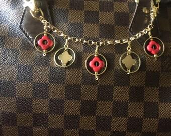Clover chain bag charm