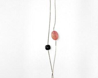 Pink quarz blue and Sand bracelet