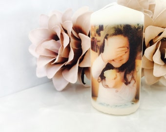 Personalised Photo Candle Gift