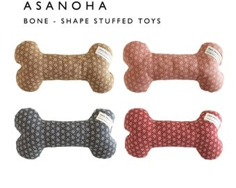 Asanoha pattern, Dog toy, Bone-shape Stuffed Toy