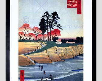 Painting Japanese Woodblock Pathway Stream New Fine Art Print Poster FECC3441