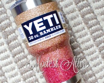 Glitter YETI Tumbler 30 Oz / YETI Tumbler Personalized/ Customized YETI