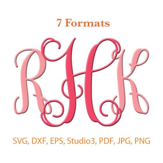 Download Interlocking Monogram Bold Font SVG Studio 3 / dfx / eps