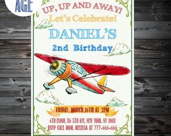 Plane Invitation,Airplane Invitation,Airplanes Birthday Invitations,Printable Airplane Invitation,1st,2nd,3rd,4th Birthday Invitation
