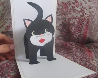 Handmade card with kitten