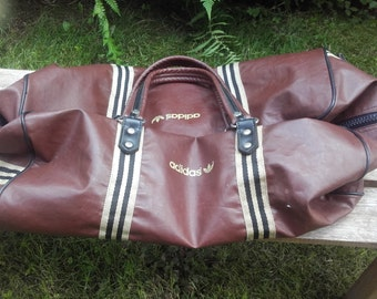 Vintage Adidas leather bag soft 70