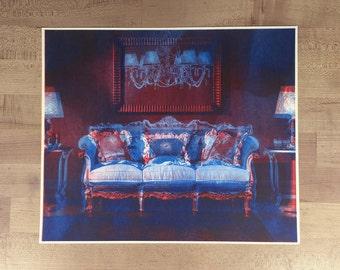 "2 Livingrooms #4 / 13""x11"" - original risograph -"