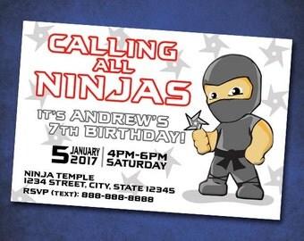Printable Martial Arts Invitations, Taekwondo Custom Card, Karate Invitation