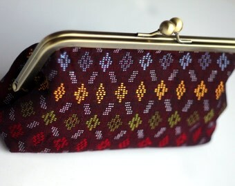 Tribal Clutch, Handwoven Clutch, Elegant Purse, Small Purse, Made in NC