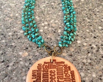 Beaded Monogrammed Necklace