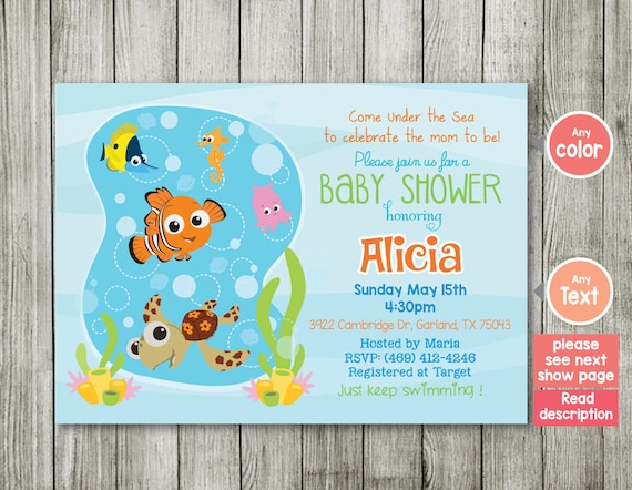 invitation finding nemo nemo invitation nemo co ed baby shower