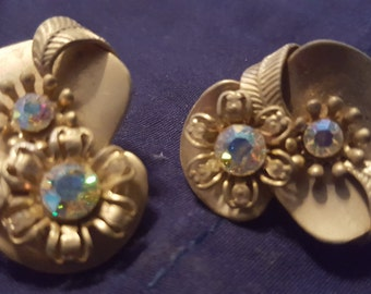 Vintage clip on earrings 1970s