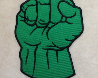 Hulk Fist Super Hero Logo Iron On Patch