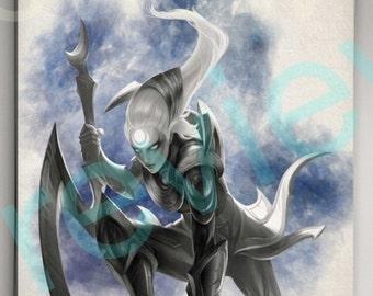 League of Legends Diana, League of Legends Poster, League of Legends Watercolor, League of Legends Wall Decor